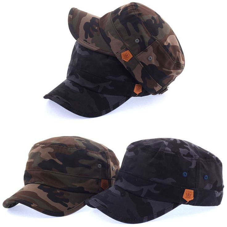 New Mens Womens Classic Vintage Army Military Camouflage Cadet Patrol Castro Hat #hellobincom #CadetPatrolCastroCapHats