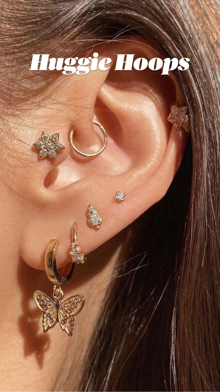 Daith Piercing Jewelry, Nose Jewelry, Tragus Piercings, Lobe Piercing, Women's Jewelry, Custom Jewelry, Diamond Jewelry, Pretty Ear Piercings, Ear Peircings