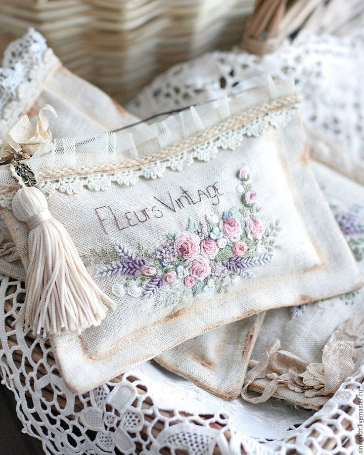 Купить Fleurs vintaje - саше, саше ароматическое, саше с вышивкой, вышивка ручная, вышивка
