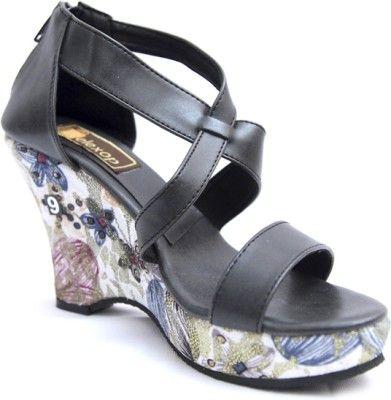 Relexop Women Wedges - Buy Black Color Relexop Women Wedges Online at Best Price - Shop Online for Footwears in India | Flipkart.com