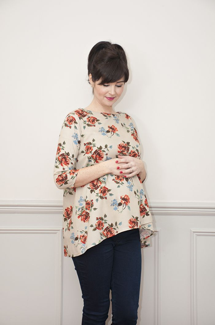 Sew Over It Lily Top - maternity pattern for pregnancy, nursing and beyond! https://sewoverit.co.uk/product/lily-top-pdf-sewing-pattern/
