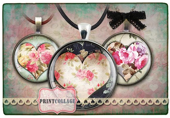 Digital Collage Sheet 1inch12mm Circles Printable by PrintCollage, $3.90