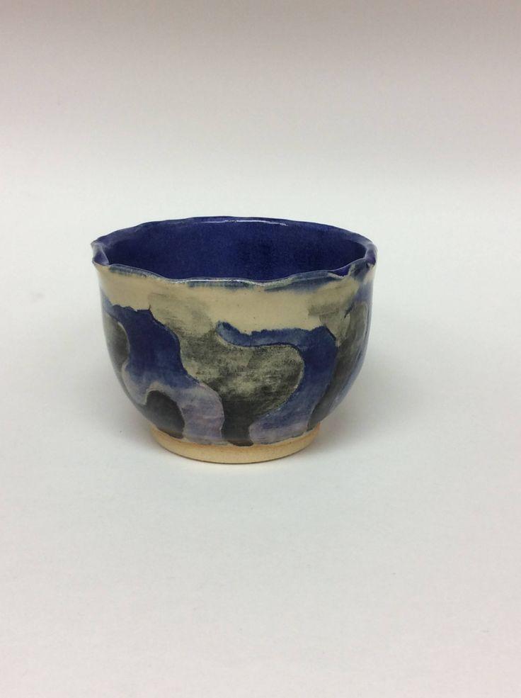 Wheel thrown pottery, wheel thrown bowl, blue ceramic bowl, ceramic bowl, pottery, handmade ceramics by ChelatchieStudios on Etsy