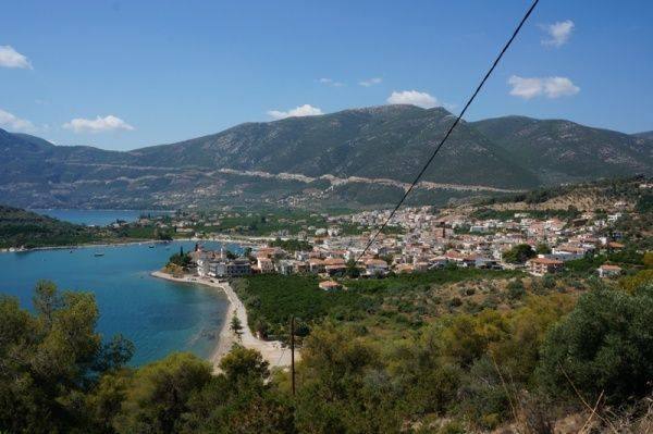 Zicht op Epidavros, Peloponnesus 2013