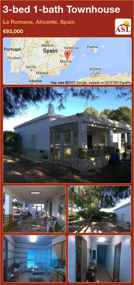 3-bed 1-bath Townhouse in La Romana, Alicante, Spain ►€93,000 #PropertyForSaleInSpain