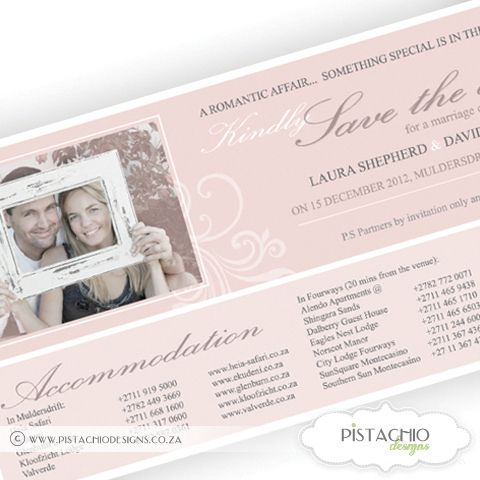 Save The Date Photo Design