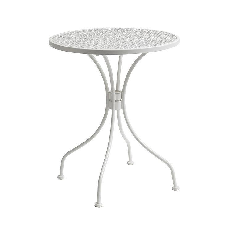 Discover the Nordal Round Garden Table - White at Amara