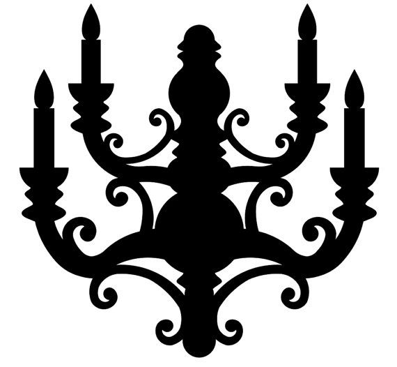 Chandelier Svg Digital Cut File Graphic Vector Image