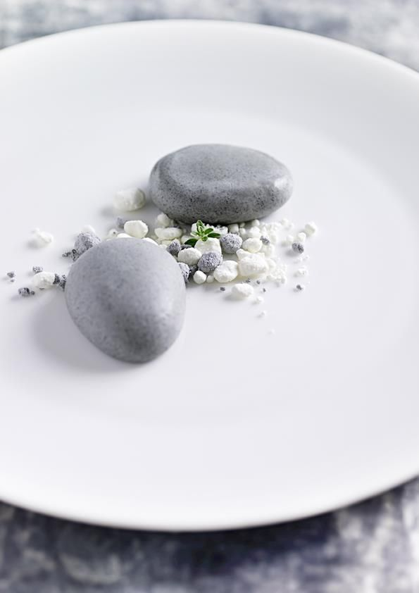 LOOKS LIKE - the Japanese stone dessert   |  Pear ice-cream  #new #nordic #cuisine - - Loved by @Andy Yang Yang Yang Denmark House