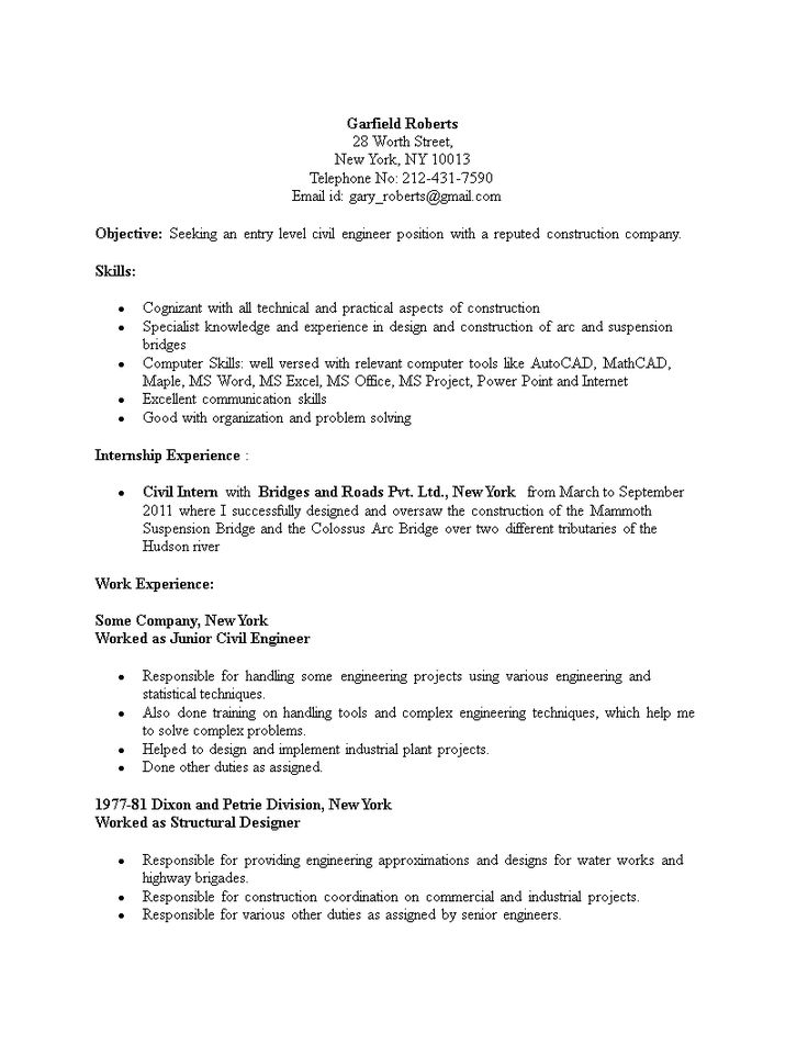 Civil Engineering Student Resume How to create a Civil
