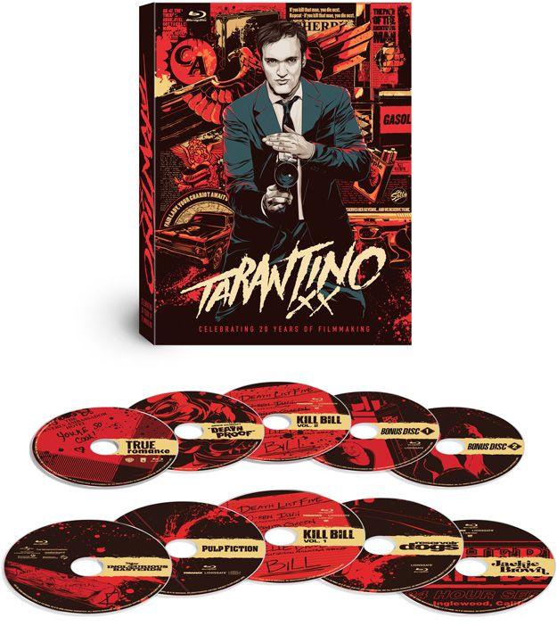 El 20 de noviembre sale a la venta 'Tarantino XX: 8-Film Collection', una edición en Blu-Ray de 10 discos con todas las películas dirigidas Quentin Tarantino. Precio recomendado de 119,99$