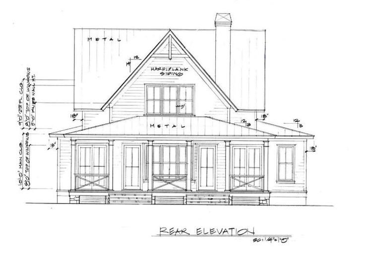 Four Gables Rear Elevation Gable House Cottage Floor Plans House Plans With Pictures Four gables house plan interior
