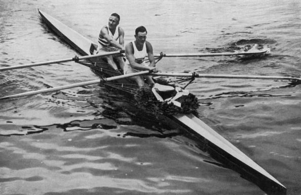 Team GB champions Jack Beresford (G) and Leslie Southwood won the Berlin Olympic Rowing Double Sculls in 1936