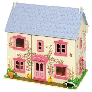 Monzopl Wooden DollhouseWooden DollsWooden Toy