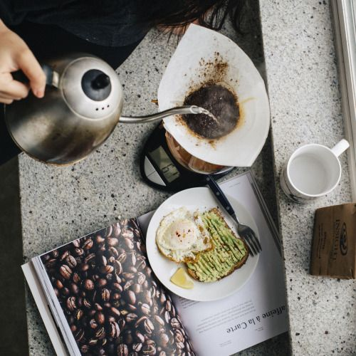potatoislike:The essentials: Kinfolk, Chemex coffee, and avocado toast