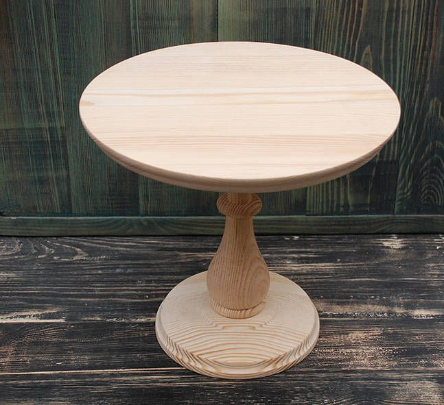 8 16 Wooden Cake Stand Unfinished Cake Stand Rustic Cake Stand