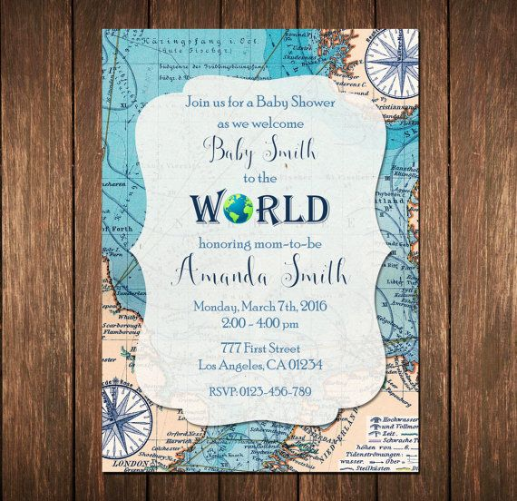 Welcome To The World Baby Shower World Baby Shower Map