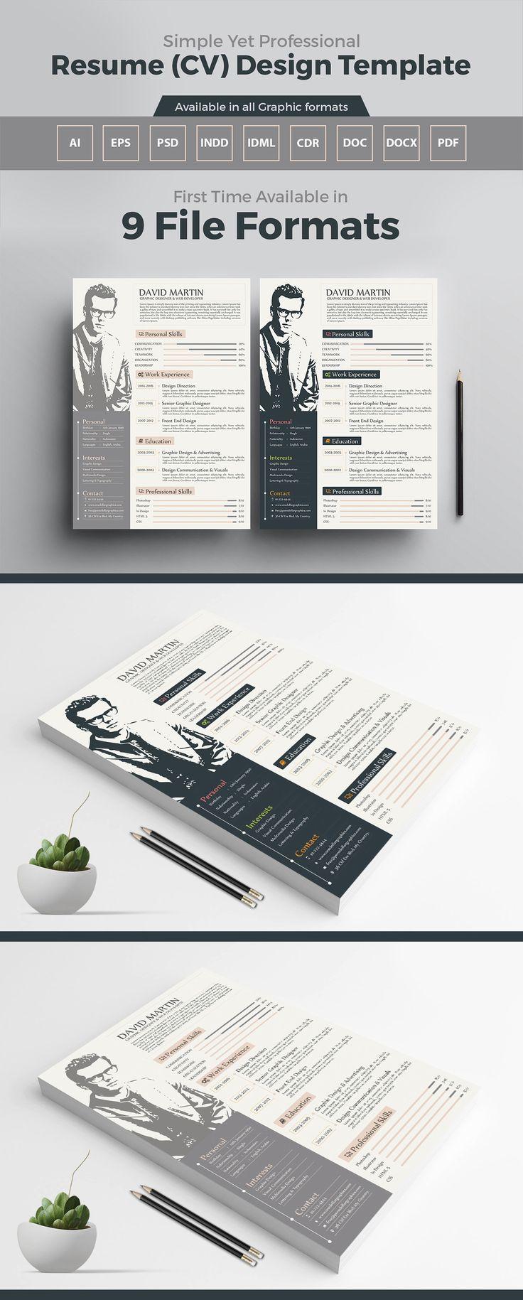 10 best Free & Premium Resume Design Templates images on Pinterest ...
