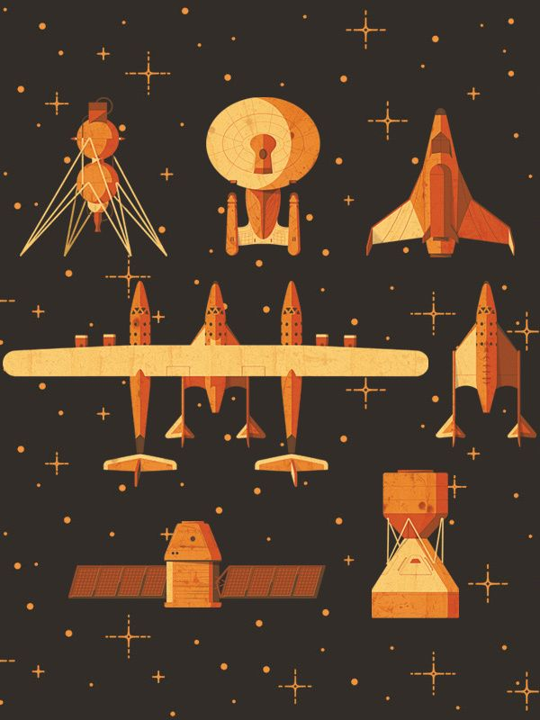 Lovely space graphic for Fast Company — Space jam by Andrea Manzati, via Behance