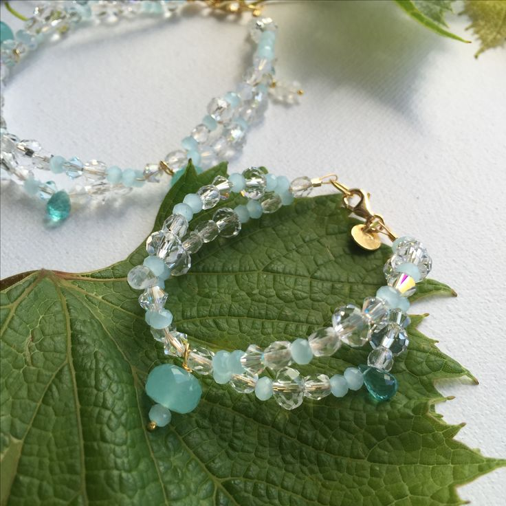 She has the kindest and most generous heart. She's a nature and animal lover.This beautiful bracelet is a palette of soft aquas accented withApatite for imagination
