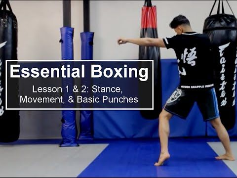 ESSENTIAL BOXING Lessons 1 & 2 | Masters Academy Plymouth - YouTube