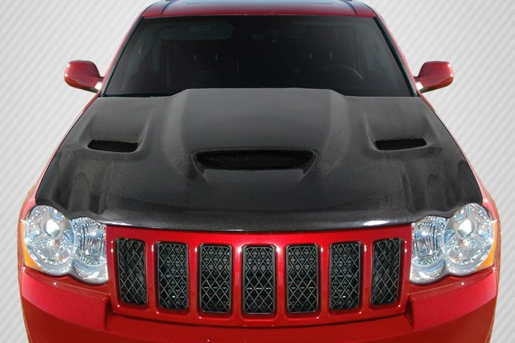 2005-2010 Jeep Grand Cherokee Carbon Creations DriTech Hellcat look Hood - 1 Piece