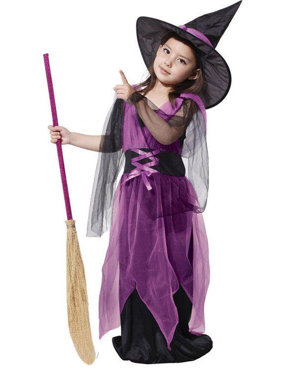 AmazonSmile: DD-CM Little Girls Halloween Costume Magic Witch Cosplay Tutu Dress: Clothing