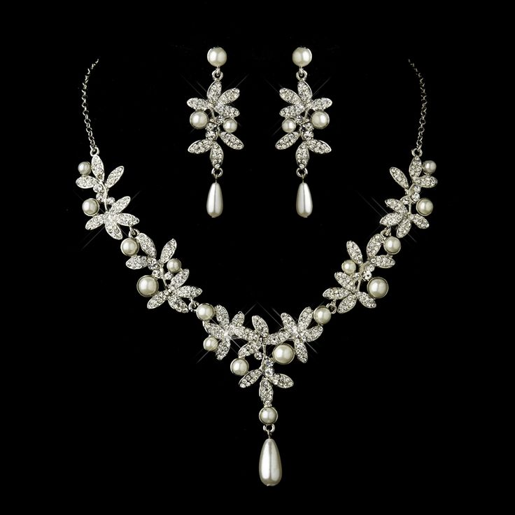 28 best sugar pearls images on pinterest for Diamond pearl jewelry sets