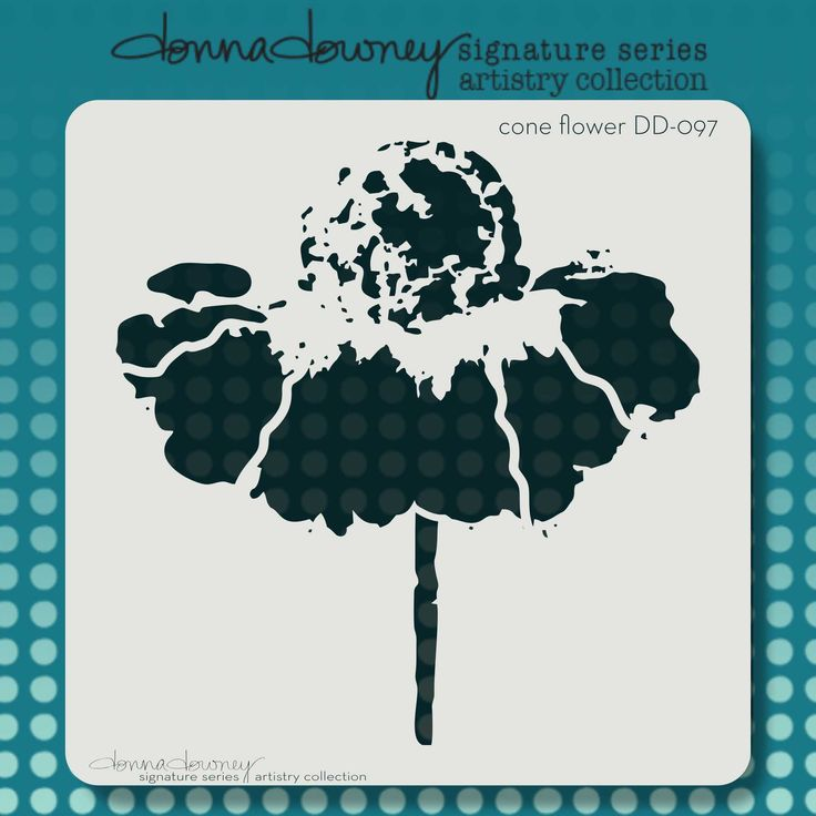 "NEW RELEASE - donna downey ""artistry series"" stencils - cone flower 