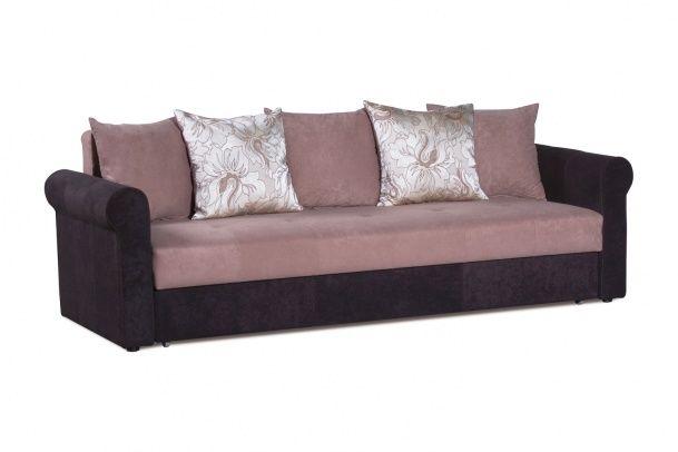 Диван-кровать Меценат, ткань коричневая. Превосходный дизайн, небольшие габариты, доступная цена, высокое качество, именно поэтому диван Меценат с легкостью приобрел популярность. Изящные закругленные подлокотники отделаны декоративной косичкой. Царга и подлокотники выполнены в ткани. Имеет обширную емкость для белья. Каркас дивана выполнен из массива дерева, что обеспечивает высокую прочность и долгий срок службы.  Диван-кровать рассчитан на ежедневное использование в качестве спального…