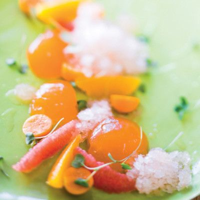 Taste Mag | Campari-and-orange jellies with grapefruit granita @ http://taste.co.za/recipes/campari-and-orange-jellies-with-grapefruit-granita/