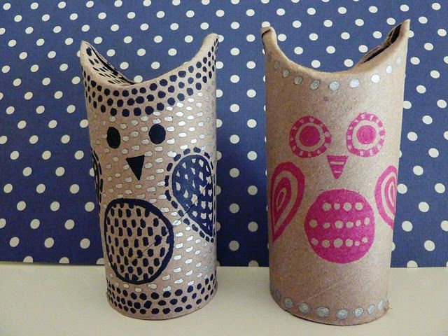 toilet paper roll owls