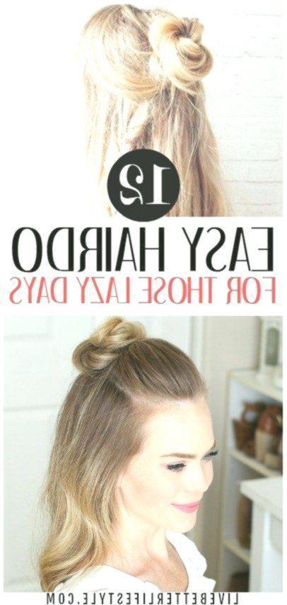 12 Super Easy Hairdos for Those Lazy Days #Days #easy #Hairdos #Hairstyle #hair -