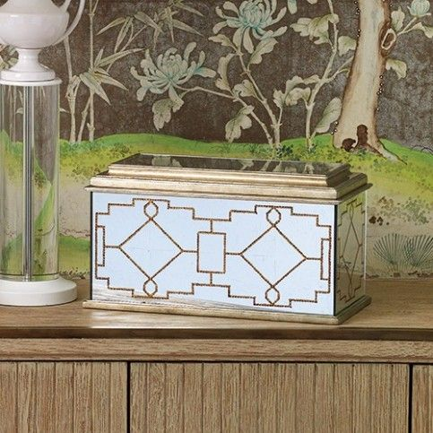 """THE WELL APPOINTED HOUSE - Luxuries for the Home - THE WELL APPOINTED HOME Berkley Decorative BoxThe box measures 16""""L X 8""""W X 9""""H. Click on image for greater detail. - See more at: http://www.wellappointedhouse.com/berkley-decorative-box.html#ad-image-0"""