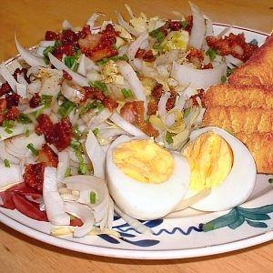 Witlof salade met spekjes