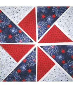 Fireworks Fabric Pinwheel Quilt Kit (12 Blocks)