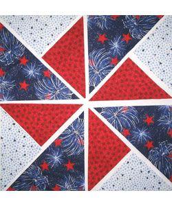 Fireworks Fabric Pinwheel Quilt Kit (12 Blocks)