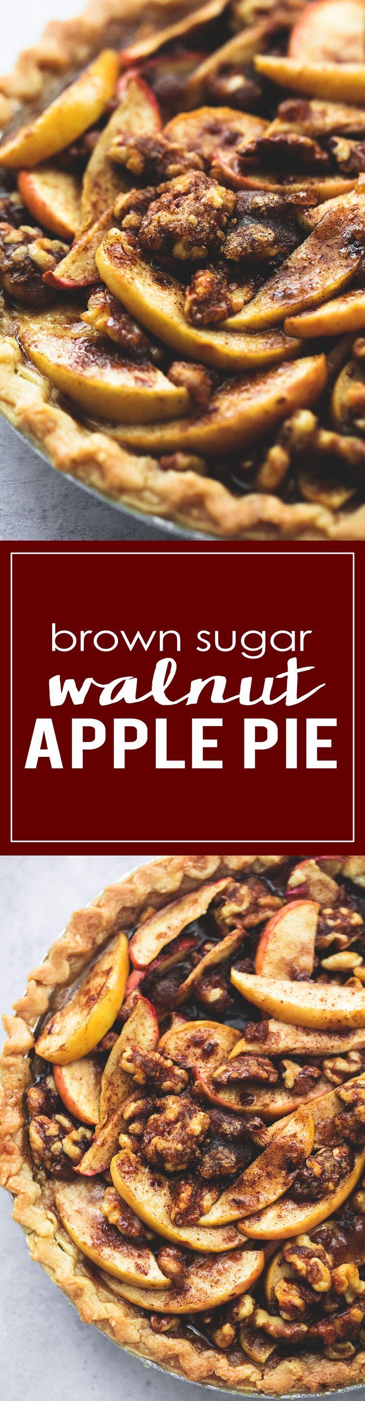 Brown Sugar Walnut Apple Pie | lecremedelacrumb.com