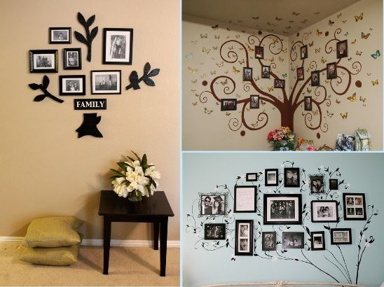 Creative family wall ideas so creative things creative for Family tree picture wall ideas