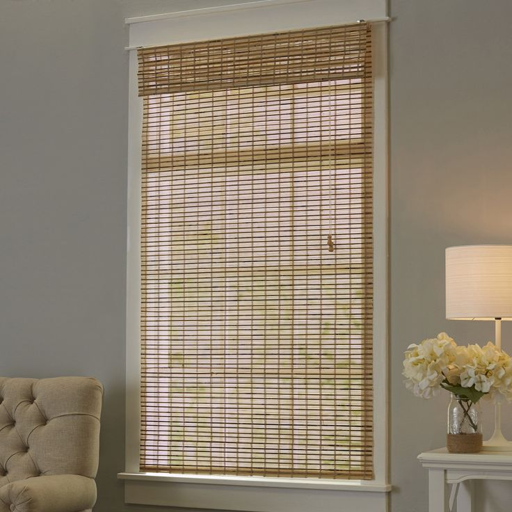 17 best ideas about bamboo roman shades on pinterest for Roman blinds for large windows