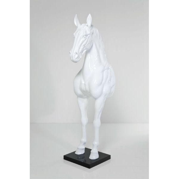 Διακοσμητικό Δαπέδου Standing Horse 181 Εντυπωσιακή διακοσμητική φιγούρα ενός αλόγου από fiberglass σε λευκό χρώμα.