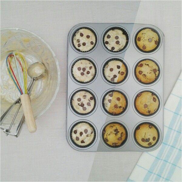 Banana Chocolate Chip Muffins.
