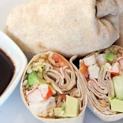 Take your sushi and wrap it up! This skinny california wrap is perfect for any meal because it's only 122 calories and 5.7 grams of fat. You could have second helpings with zero guilt!