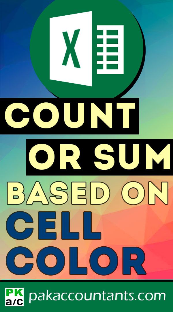 Count + Sum Cells based on Cell Colour in Excel - How To | Excel