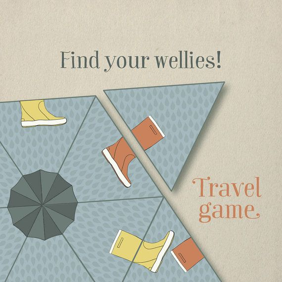 Printable game for kids - travel game for children by Studio Stillae