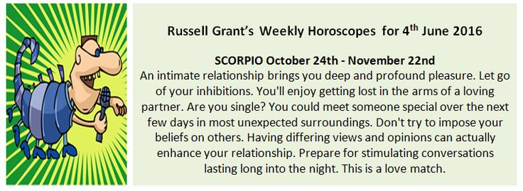 Astrology - Scorpio Weekly Horoscope for 4th June 2016