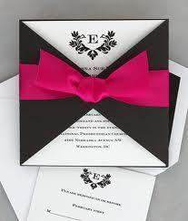 invitaciones de boda elegantes y modernas en rojo - Buscar con Google
