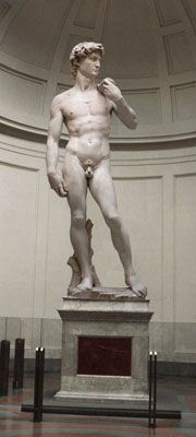 Statue of David at the Accademia Gallery...pictures don't do it justice!