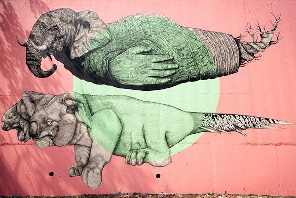 ATL Living Walls makes Brooklyn Street Art #hipsterlicious #streetart #cabbagetown