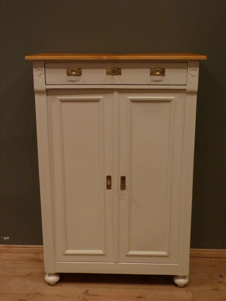 jugendstil vertikow fichte weiss lasiert um 1910 antike. Black Bedroom Furniture Sets. Home Design Ideas